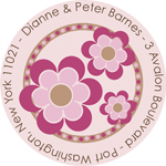 Name Doodles - Round Address Labels/Stickers (Bella Bright)
